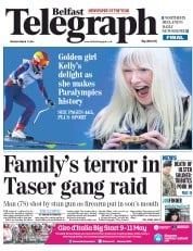 Belfast Telegraph (UK) Newspaper Front Page for 11 March 2014