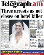 Belfast Telegraph (UK) Newspaper Front Page for 12 January 2011