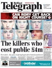 Belfast Telegraph (UK) Newspaper Front Page for 12 April 2011