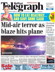 Belfast Telegraph (UK) Newspaper Front Page for 17 December 2014