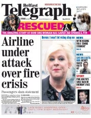 Belfast Telegraph (UK) Newspaper Front Page for 18 December 2014