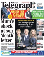 Belfast Telegraph (UK) Newspaper Front Page for 18 April 2015