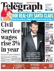 Belfast Telegraph (UK) Newspaper Front Page for 19 December 2014
