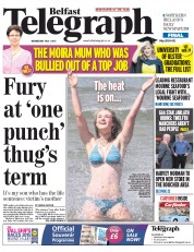 Belfast Telegraph (UK) Newspaper Front Page for 1 July 2015