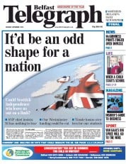 Belfast Telegraph (UK) Newspaper Front Page for 1 September 2014