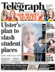 Belfast Telegraph (UK) Newspaper Front Page for 20 October 2014