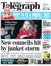 Belfast Telegraph (UK) Newspaper Front Page for 21 November 2014
