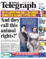 Belfast Telegraph (UK) Newspaper Front Page for 21 April 2015