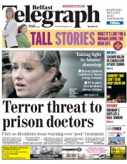 Belfast Telegraph (UK) Newspaper Front Page for 23 October 2014