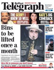 Belfast Telegraph (UK) Newspaper Front Page for 23 August 2014