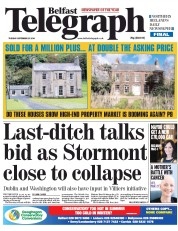 Belfast Telegraph (UK) Newspaper Front Page for 23 September 2014