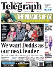 Belfast Telegraph (UK) Newspaper Front Page for 24 November 2014