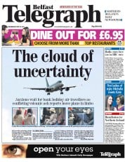 Belfast Telegraph Newspaper Front Page (UK) for 25 May 2011