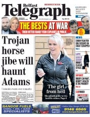 Belfast Telegraph (UK) Newspaper Front Page for 26 November 2014
