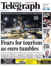 Belfast Telegraph (UK) Newspaper Front Page for 26 January 2015