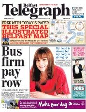 Belfast Telegraph () Newspaper Front Page for 26 April 2013