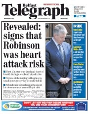 Belfast Telegraph (UK) Newspaper Front Page for 26 May 2015