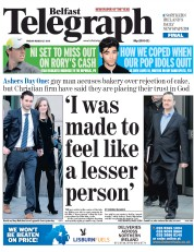 Belfast Telegraph (UK) Newspaper Front Page for 27 March 2015