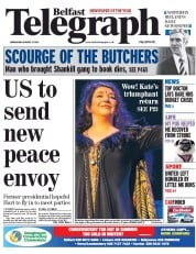Belfast Telegraph (UK) Newspaper Front Page for 27 August 2014