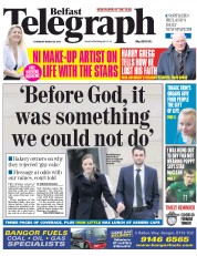 Belfast Telegraph (UK) Newspaper Front Page for 28 March 2015