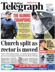 Belfast Telegraph (UK) Newspaper Front Page for 28 May 2015