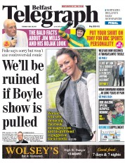 Belfast Telegraph (UK) Newspaper Front Page for 29 July 2015
