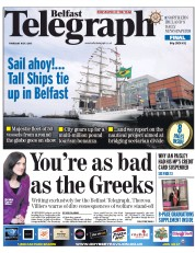 Belfast Telegraph (UK) Newspaper Front Page for 2 July 2015