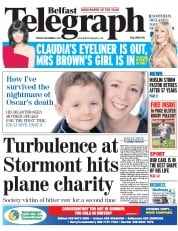 Belfast Telegraph (UK) Newspaper Front Page for 2 September 2014