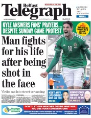 Belfast Telegraph (UK) Newspaper Front Page for 30 March 2015