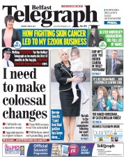 Belfast Telegraph (UK) Newspaper Front Page for 30 June 2015