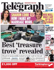 Belfast Telegraph (UK) Newspaper Front Page for 30 August 2014