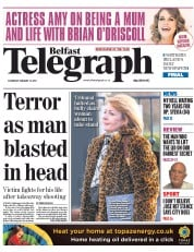 Belfast Telegraph (UK) Newspaper Front Page for 31 January 2015