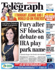Belfast Telegraph (UK) Newspaper Front Page for 3 March 2015