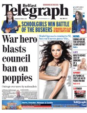 Belfast Telegraph (UK) Newspaper Front Page for 4 March 2015