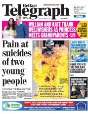 Belfast Telegraph (UK) Newspaper Front Page for 4 May 2015