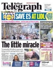 Belfast Telegraph (UK) Newspaper Front Page for 4 July 2015