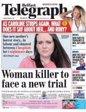 Belfast Telegraph (UK) Newspaper Front Page for 5 March 2015