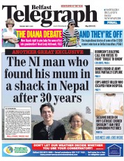 Belfast Telegraph (UK) Newspaper Front Page for 5 May 2015
