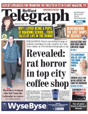 Belfast Telegraph (UK) Newspaper Front Page for 5 August 2015
