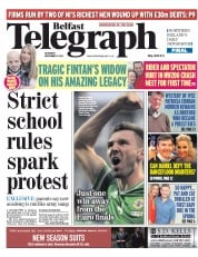 Belfast Telegraph (UK) Newspaper Front Page for 5 September 2015