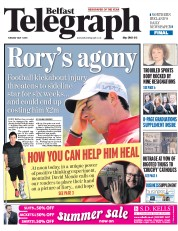 Belfast Telegraph (UK) Newspaper Front Page for 7 July 2015