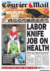 Courier Mail (Australia) Newspaper Front Page for 10 February 2012