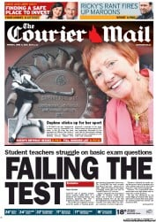 Courier Mail Newspaper Front Page (Australia) for 11 June 2012