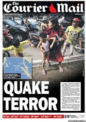 Courier Mail (Australia) Newspaper Front Page for 12 April 2012