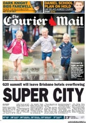 Courier Mail Newspaper Front Page (Australia) for 12 July 2012