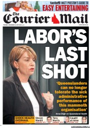 Courier Mail (Australia) Newspaper Front Page for 13 December 2011