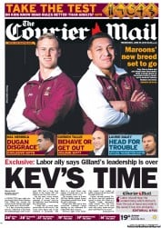 Courier Mail (Australia) Newspaper Front Page for 18 June 2013