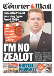 Courier Mail (Australia) Newspaper Front Page for 19 October 2013