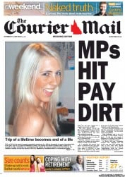 Courier Mail (Australia) Newspaper Front Page for 1 October 2011