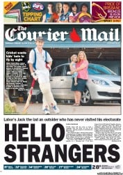 Courier Mail (Australia) Newspaper Front Page for 22 February 2012